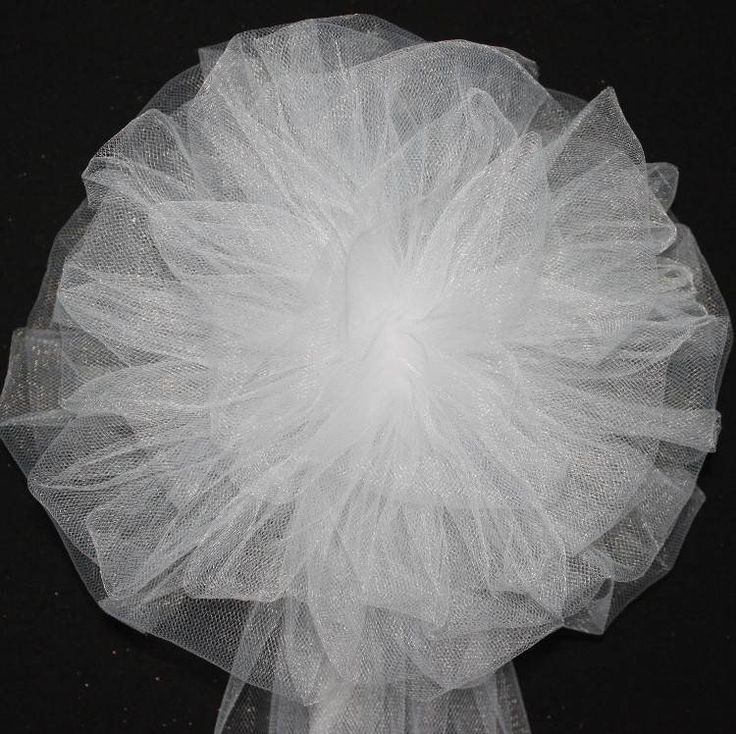 White Tulle Wedding Pew Bows - Package Perfect Bows - 2
