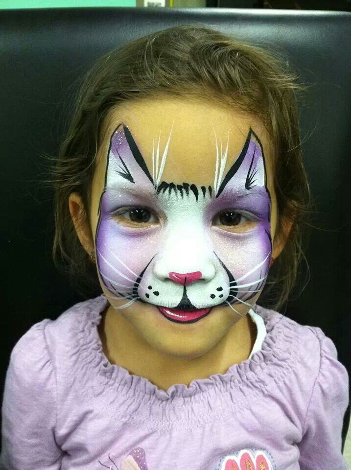 face painting cat - 660×734