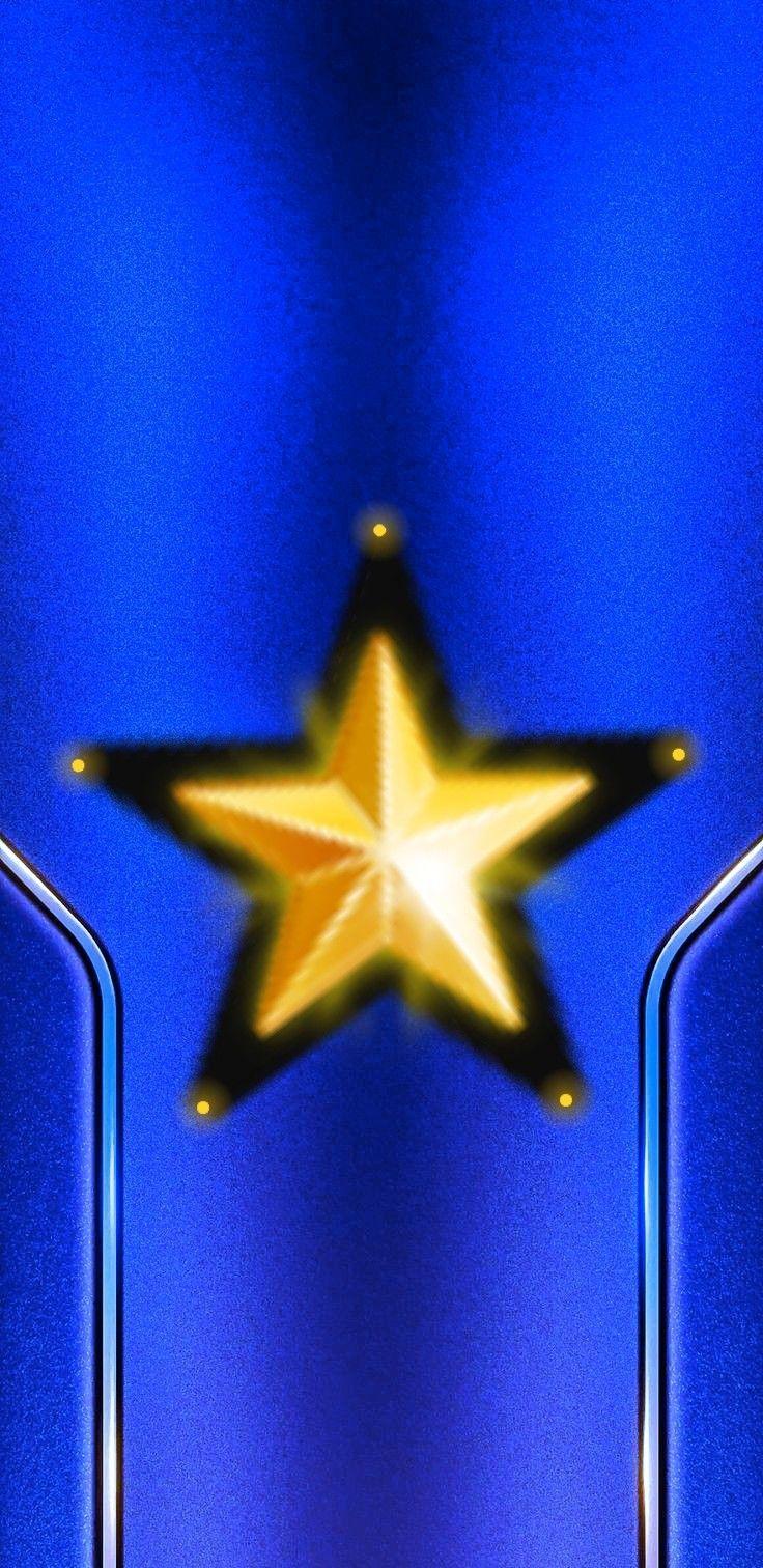 Fondo azul rey con estrellas