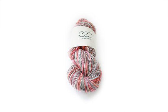 Ovilab Bright Skinnies | Peaches and Cream | Handspun, Hand-dyed,  DK yarn | Superfine Merino