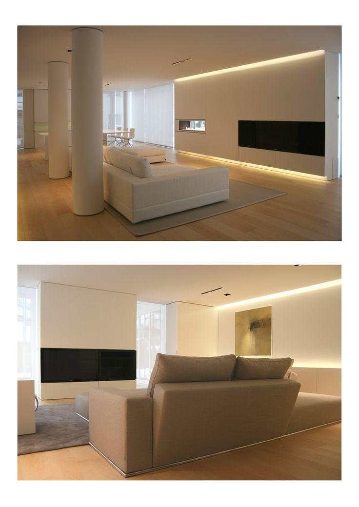 Lights | Hidden Lights | Architectural Lighting | White Living Room