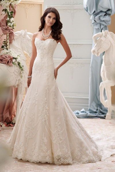 sale david tutera for mon cheri 115245 Indiana price wedding dress softly curved scalloped neckline