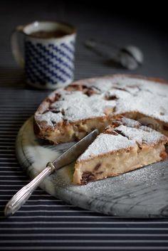 torta con farina di mais mele e uvetta e un nome malizioso. Cook and the City blog