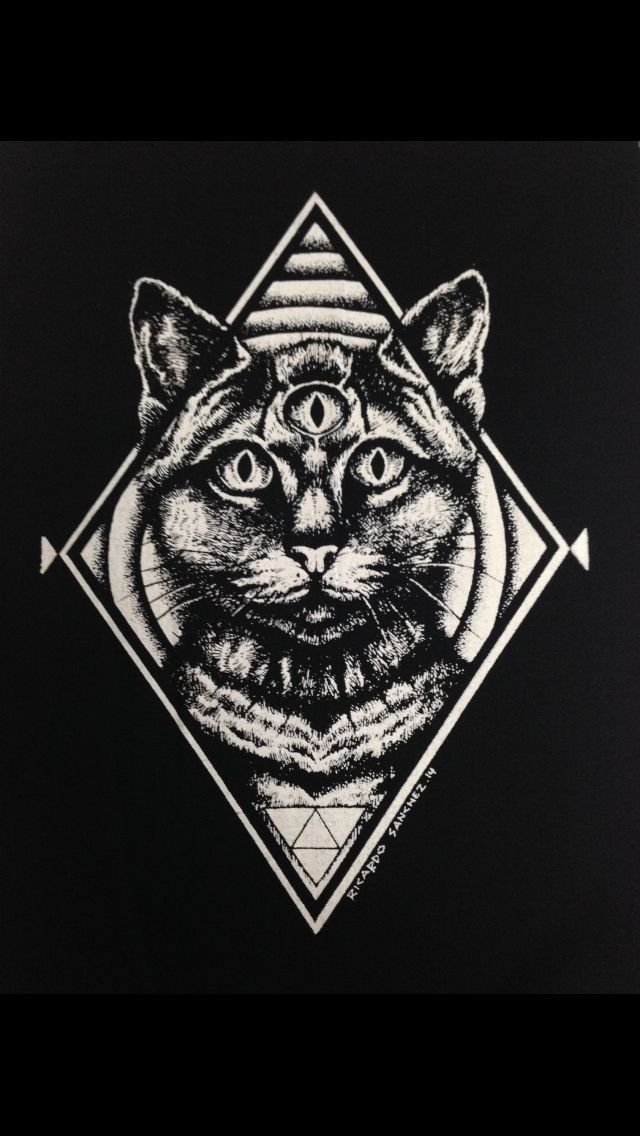 So would want this as a tattoo...more geometric styled patterns in the back, but I love the black and grey with the third eye!