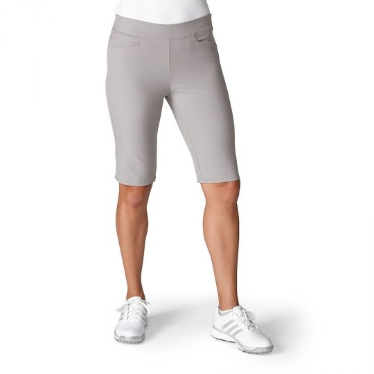 Grey Adidas Ladies Adistar Bermuda Pull On Golf Shorts now at one of the top shops for ladies golf apparel #lorisgolfshoppe