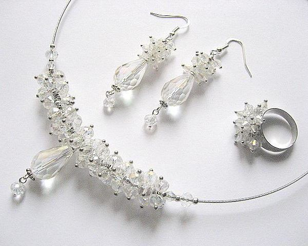 Set mireasa cu cristale din Cehia - idei cadouri mirese, cadouri bijuterii nunta nunta