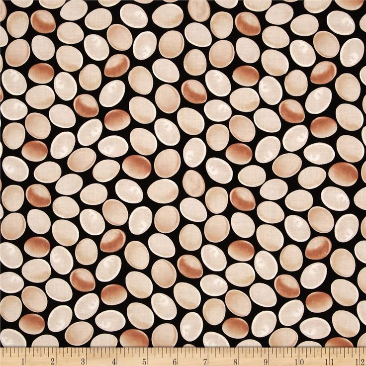 Timeless Treasures French Country Eggs Black from @fabricdotcom  Designed by Dona Gelsinger for Timeless Treasures, this cotton print fabric is perfect for quilting, apparel and home decor accents. Colors include black, cream and tan.