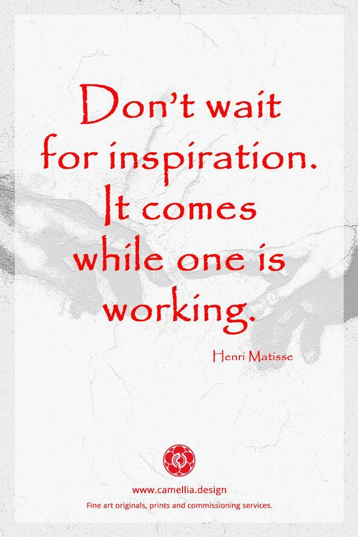 Inspiration from the artist Henri Matisse artquote