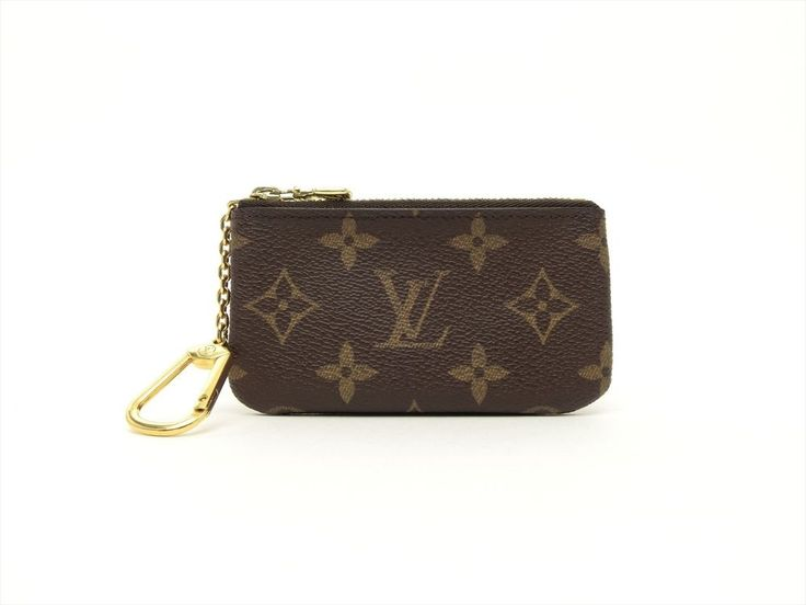 Louis Vuitton Authentic Monogram Key Chain Coin Purse Wallet Auth LV #LouisVuitton #CoinPurse