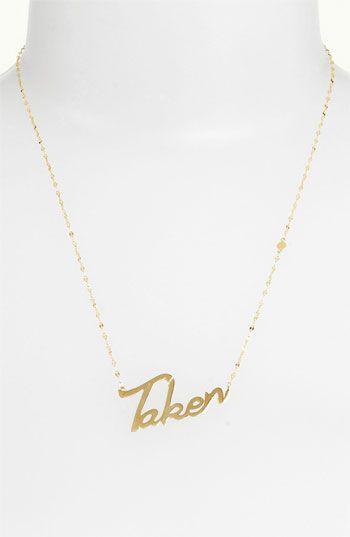 'Taken' Charm Necklace