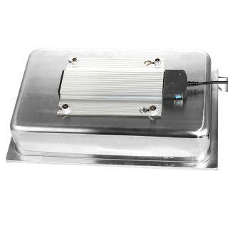 ELEMENT ELECTRIC PENTRU INCALZIRE CHAFING DISH   contine vas apa si elemente de fixare;  include si cuva pentru apa; pentru Chafing Dish GN1/1; dimensiuni: 560 x 350 x (H)115 mm; putere: 230V, 400W;