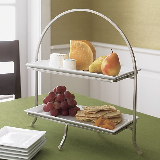 Cambridge Two-Tier Server with Plates in Specialty Serveware   Crate and Barrel