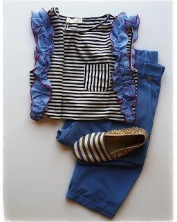 Bulla Carpaneto #ootd #shopping #shoponline #stripes #anniel #blue #glitter
