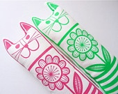 Original 70s Scandinavian fabric handmade cat toy plush softie by Jane Foster. $24.00, via Etsy.