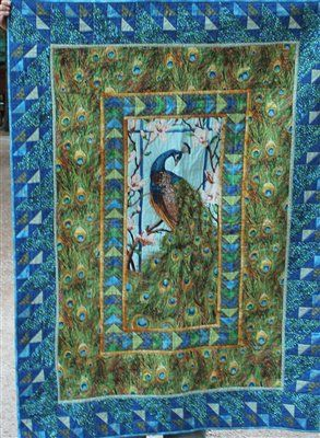 peacock quilt | Peacock quilt - Quilters Club of America