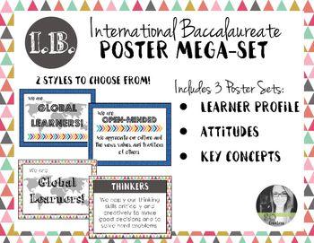 International Baccalaureate IB Poster MEGA-SET (Profile, Attitudes, & Keys)