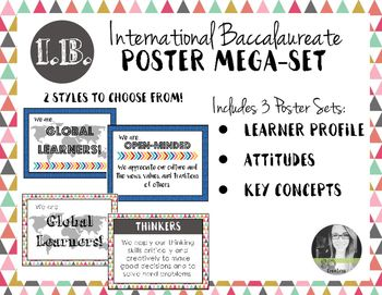 International Baccalaureate IB Poster MEGA-SET (Profile, Attitudes, & Keys)
