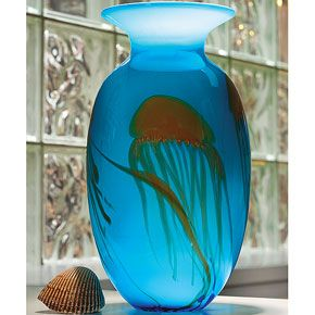 "Graceful 16"" Jellyfish Vase"