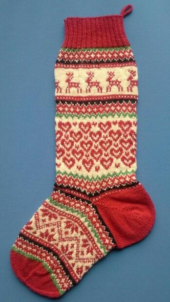 Christmas stocking, design for a new kit for the Arne & Carlos Range