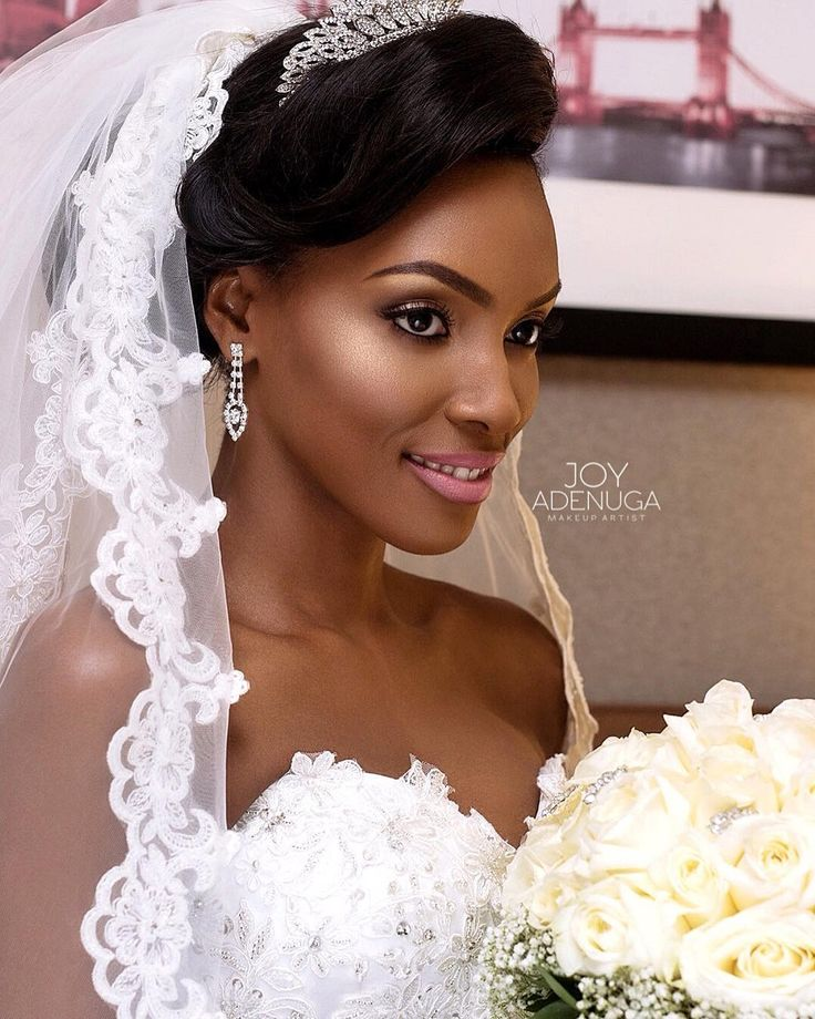 """""""My Stunning bride @maggi_cube  #Makeup by @joyadenuga  with hair by @obanbeauty  Last one  Will save the rest for my bridal blog where all products…"""""""