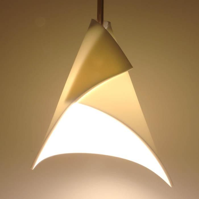 Liili light by onø design simply fabricated from an a4 sized 4mm dupont corian