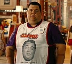 """""""Welcome to Costco. I love you."""" :) from the movie Idiocracy (you have to see that movie at least once, and they even predicted bikini coffee stands)"""