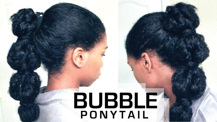 I MUST TRY!!!  The Perfect Bubble Ponytail on Natural Hair | How To - Naptural85