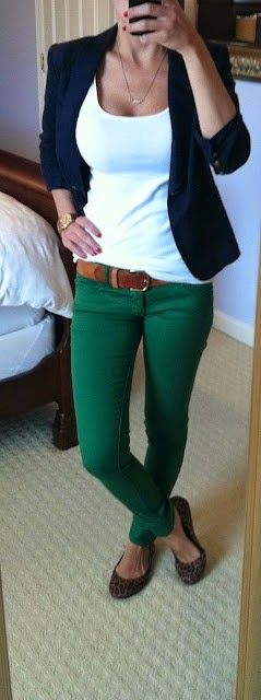 Stitch Fix Stylist - casual outfit. Not a fan of the green pants for me....maybe a different color?