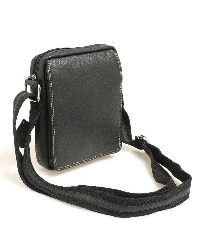 #taška #doklady Černá pánská taška na doklady SendiDesign (dříve Enrico Benetti) z pravé kůže. Uvnitř – kapsa na zip. Zepředu – pod klopnou na cvoček je kapsa na zip, přihrádky na karty, kapsička na mobil a propisku. Zezadu – kapsa na zip. Součástí tašky je nastavitelný popruh v kombinaci textil/kůže.