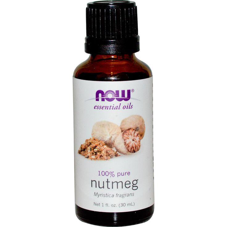Now Foods, Essential Oils, Nutmeg, 1 fl oz (30 ml) - iHerb.com