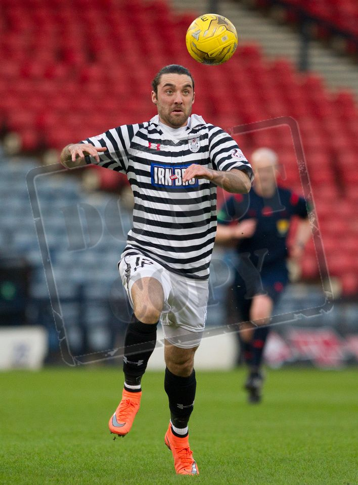 Queen's Park's Chris Duggan on the ball during the SPFL League Two game between Queen's Park and East Fife.