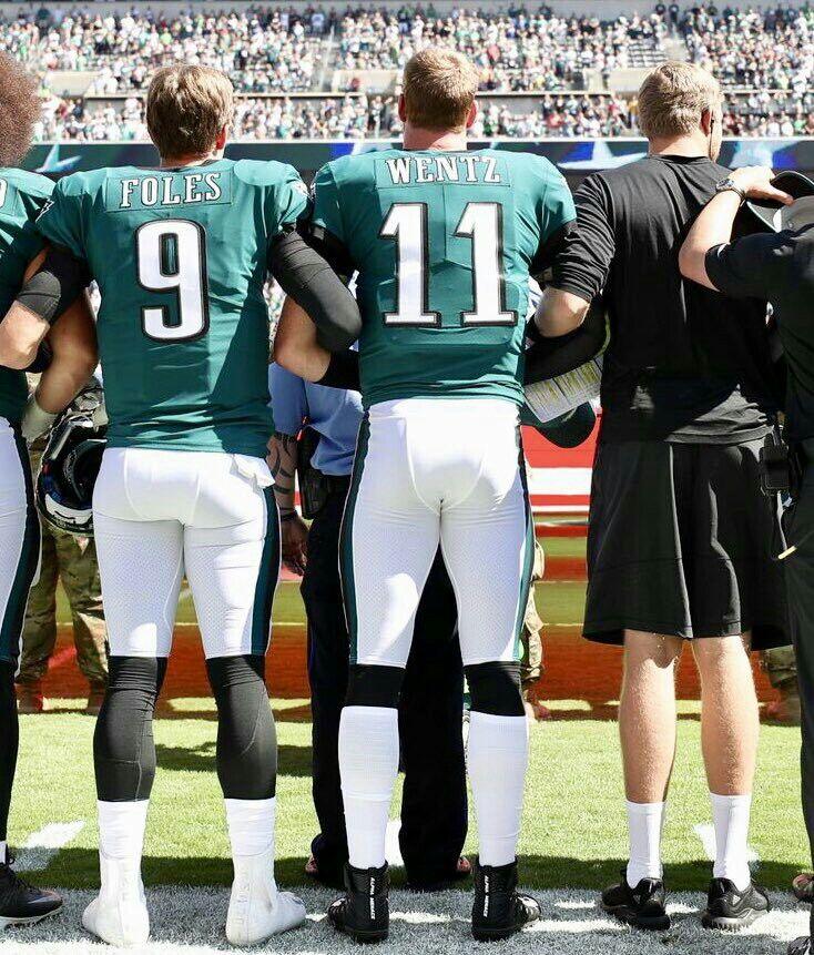 ede96bb4c30 Philadelphia Eagles QBs Nick Foles, Carson Wentz & Nate Sudfeld ...