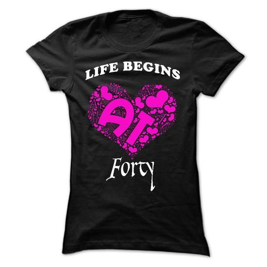 Made In 1975 - Life Begins At 40 - #teacher gift #novio gift. WANT IT => https://www.sunfrog.com/LifeStyle/Made-In-1975--Life-Begins-At-40-Ladies.html?60505