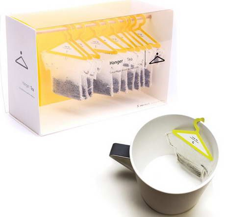 Hanger Tea Box  I like the creative packaging of the tea bags, that they're 'hanging in a closet.' in addition, the hanger design is functional when the tea bag is actually used in a cup.