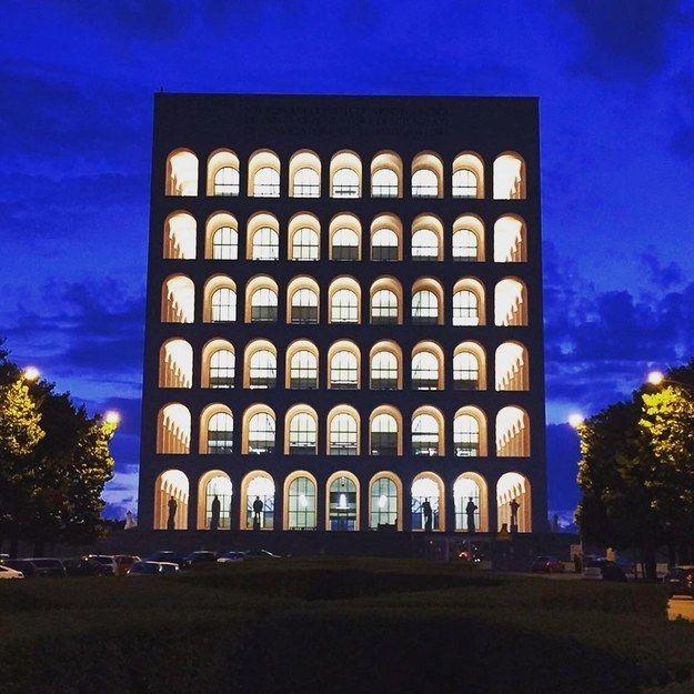 Colosseo Quadrato in Rome, Italy