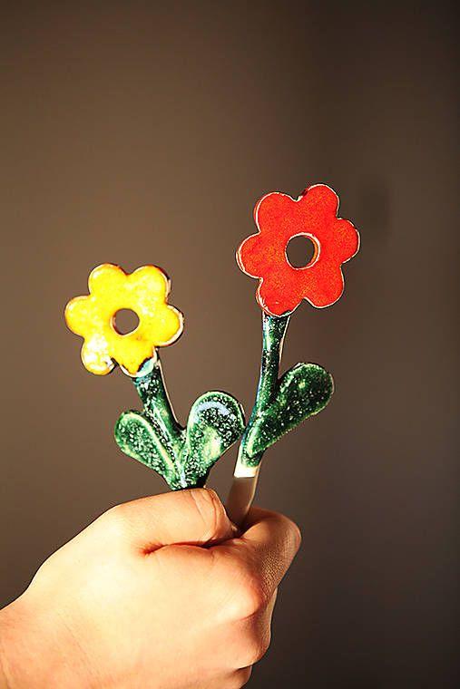 dobryobchod / Andreas: Kvetinový keramický zápich 2 ks