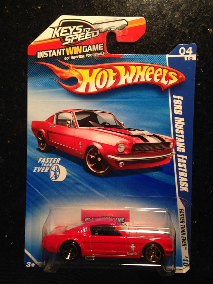 2010 HOT WHEELS FASTER THAN EVER RED FORD MUSTANG FASTBACK #HOTWHEELS #FORDMUSTANGFASTBACK