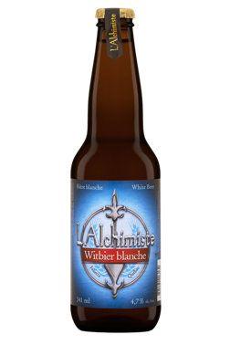 La Blanche de L'Alchimiste est une bière de type Ale qui accompagnera parfaitement vos sandwichs et vos charcuteries! #biere #Quebec