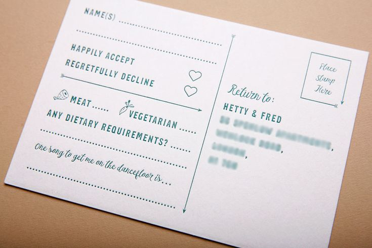 Bespoke personalised letterpress wedding invitation suite.   Both Invitation (A5) and RSVP postcard (A6) printed on 630gsm (super thick!) beermat board.   Designed by www.toandfrom.co.uk