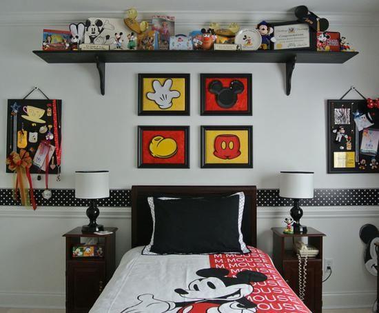 les 25 meilleures id es de la cat gorie chambre mickey sur pinterest d co chambre minnie. Black Bedroom Furniture Sets. Home Design Ideas