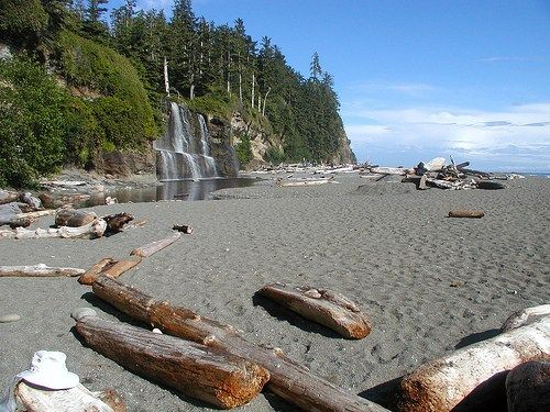 Tsusiat Falls - West Coast Trail - Vancouver Island by Richard Allaway