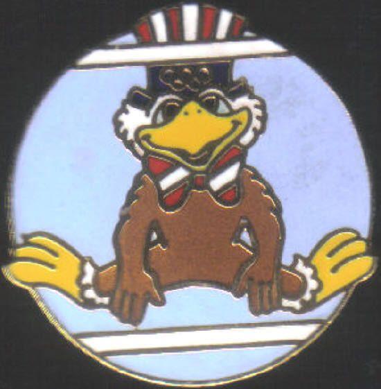 1984 Los Angeles Olympic Gymnastics Uneven Bars Mascot Sports Pin    eBay