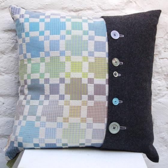 Blue Geometric Cushion