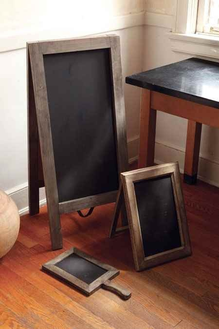 Chalkboards with Rustic, Recycled Wood Frames
