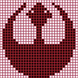 Crafty Beaver: Star Wars rebel logo knitting cross stitch chart