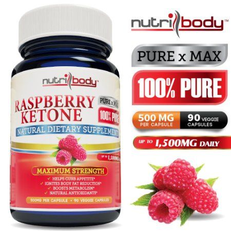 Nutribody 100% PURE Raspberry Ketones - 500mg Per Capsule, 90 Vegetarian Capsules, 30 Days Supply of 1500mg, Maximum Strength Natural Weight Loss Supplement, Appetite Suppressant, Fat Burner, Natural Antioxidants >> raspberry ketone --> http://www.amazon.com/nutribody-100-PURE-Raspberry-Ketones/dp/B00E4LIJCM/?keywords=raspberry+ketones