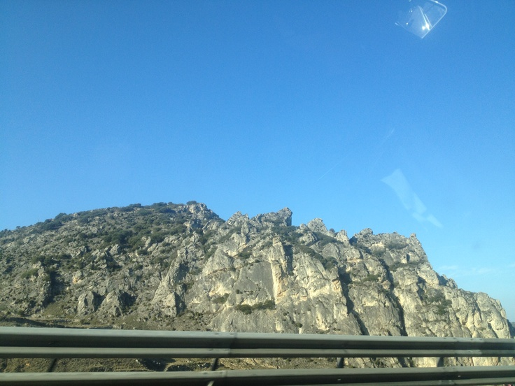 beautiful landscape from the north of spain, well i took the photo while i was in the car