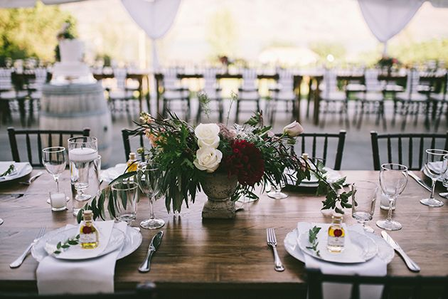 Farm Tables at La Stella Winery