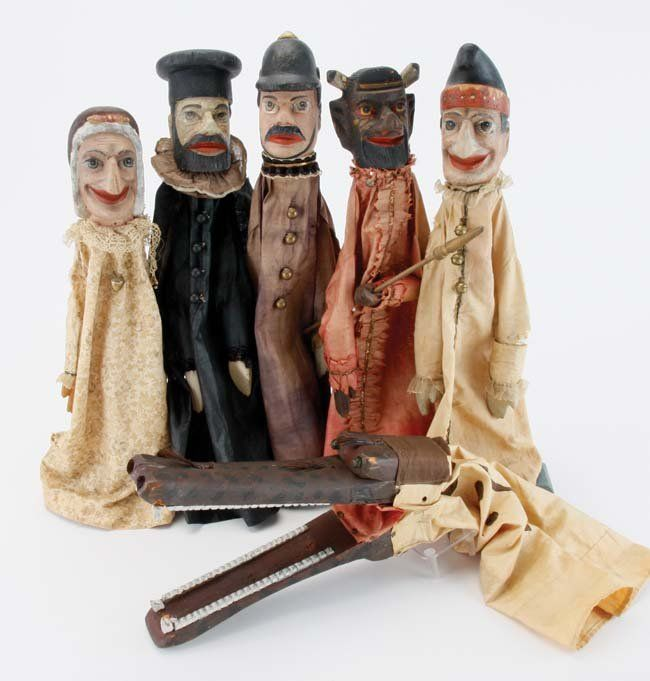 Punch & Judy Puppets - with Alligator : Lot 52