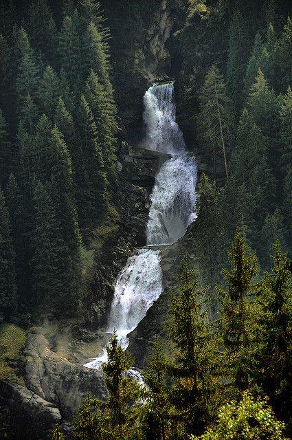 Krimmler Wasserfälle, Austria - 380m-high Krimmler Wasserfälle, Europe's highest waterfall.